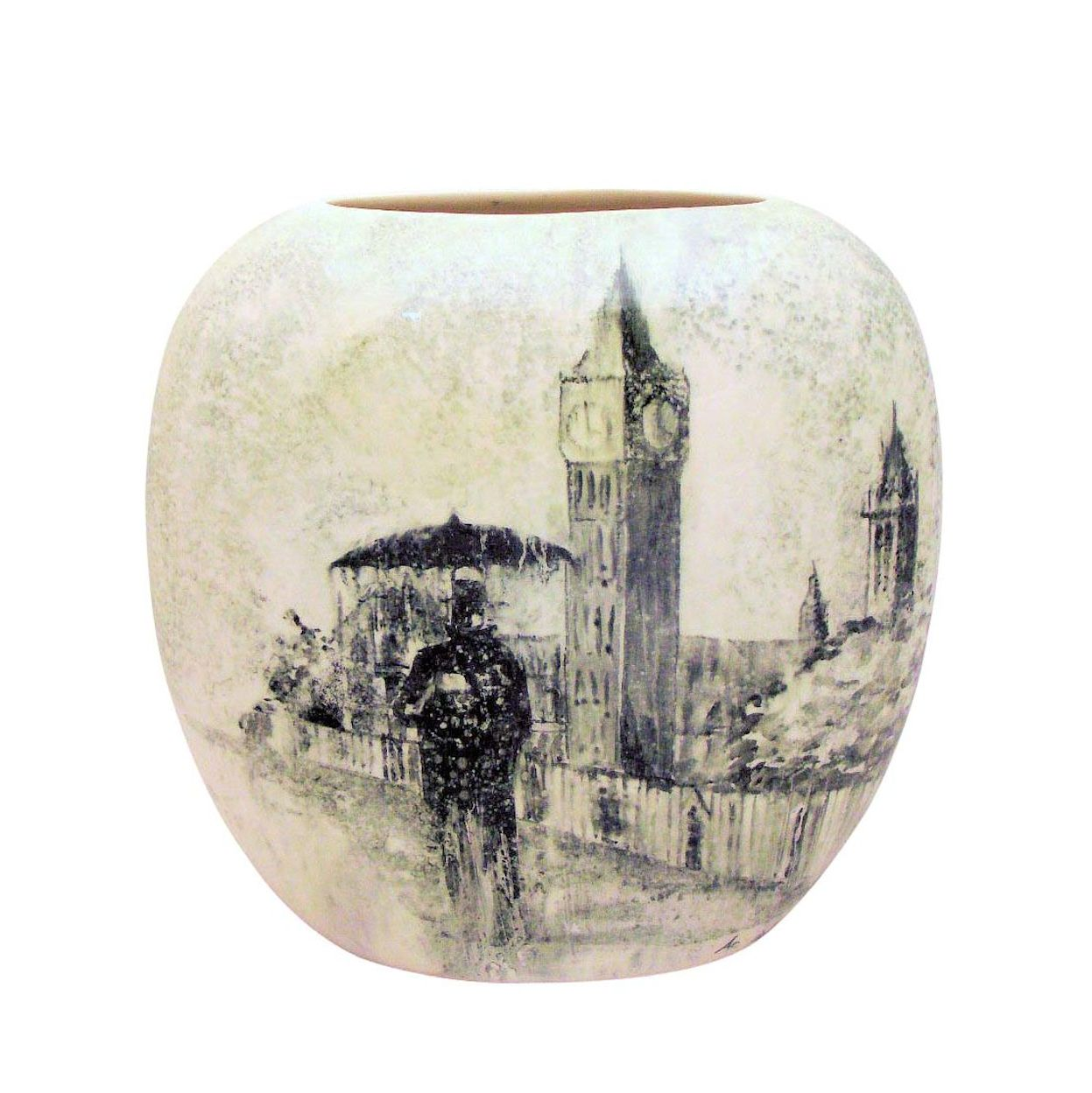 Carlton Ware Rain Man Study Design Stoke Art Pottery