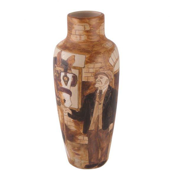 Burslem Pottery Vase Charlie Boot Design Stoke Art Pottery