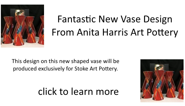 FANTASTIC NEW VASE DESIGN FROM ANITA HARRIS ART POTTERY