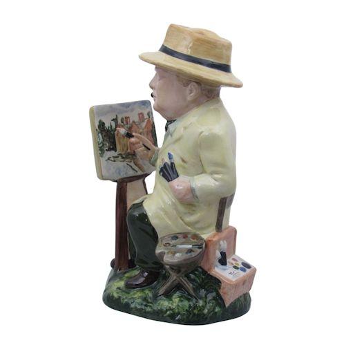 Winston Churchill Figure The Artist Stoke Art Pottery