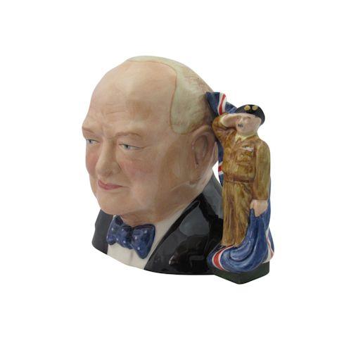 Winston Churchill Character Jug Army Colour Way Stoke