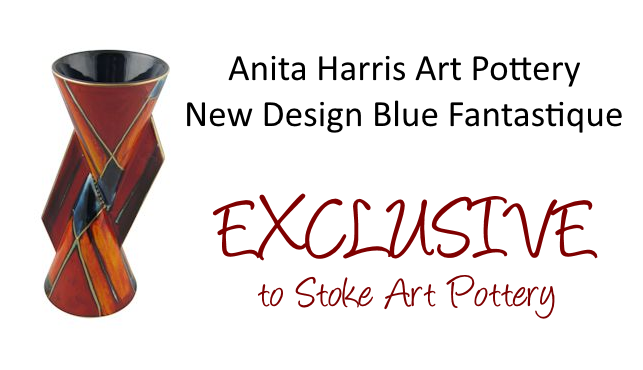 Anita Harris Art Pottery New Design Blue Fantastique