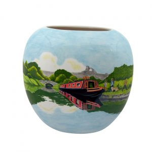 Cruising Macclesfield Canal Design Vase Tony Cartlidge Ceramic Artist