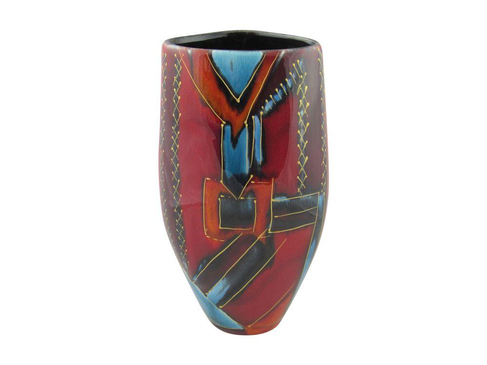 Anita Harris Studio 24cm Vase Art Deco Style Design Stoke Art Pottery