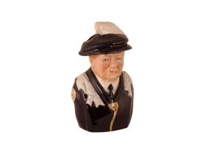 Winston Churchill Toby Jug Order of the Garter Colour-way by Bairstow Pottery Collectables