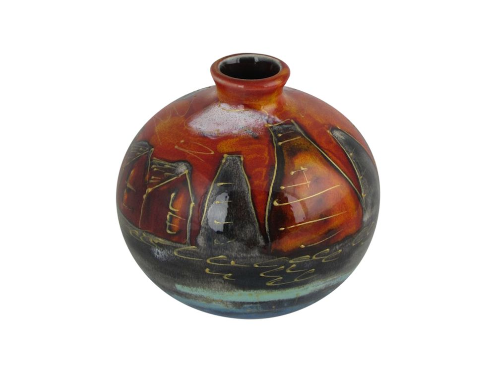 Anita Harris Art Pottery 10cm Vase Potteries Past Design Stoke Art Pottery