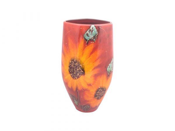 Anita Harris Art Pottery 24cm Vase Sunflower Design