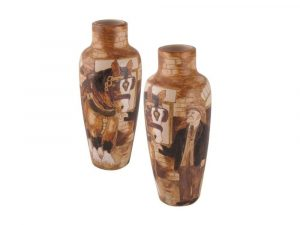 Burslem Pottery Vase Charlie Boot Design