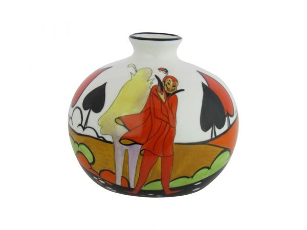 Marie Graves Hand Painted Pottery Vase The Mephisto Design