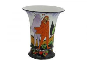 Marie Graves Freehand Hand Painted Vase - The Mephisto