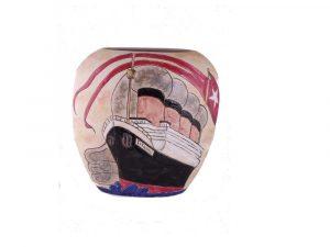 19cm Stoneware Vase Titanic Design