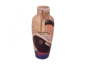 25cm Stoneware Vase Titanic Design