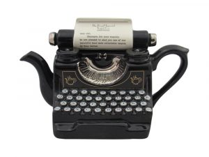 Typewriter Collectable Novelty Teapot