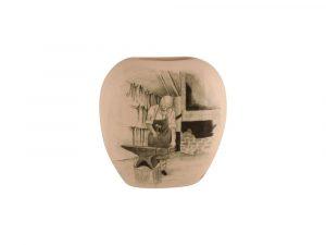 Tony Cartlidge Ceramic Artist Vase The Blacksmith Design