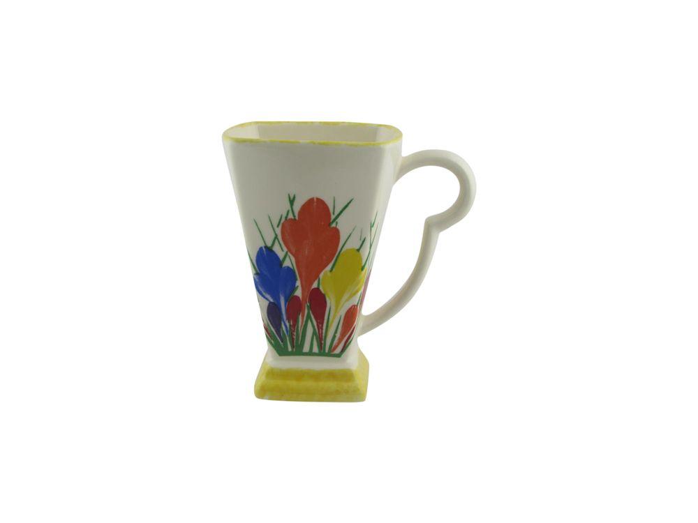Moorland Pottery Mug Crocus Design Stoke Art Pottery