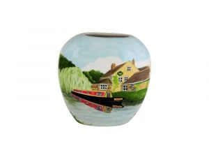 20cm Vase Canal Cruising by the Inn by