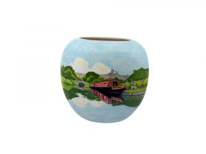 Canal Cruising in Cheshire Decorative Vase by Tony Cartlidge Ceramic Art