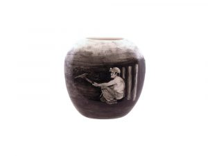 Tony Cartlidge Ceramic Artist Vase Coal Miner Design