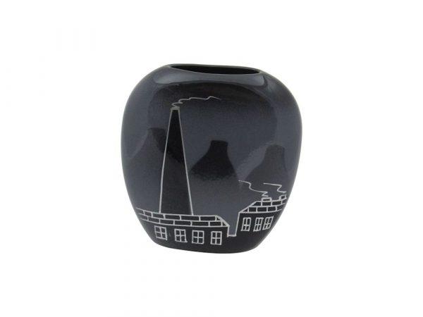 Purse Vase Potteries Design Grey Colourway Lucy Goodwin Designs