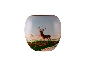 Tony Cartlidge Ceramic Artist Vase Majestic Stag Design