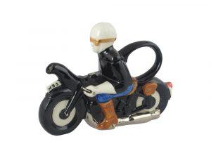 Motor Biker Collectable Novelty Teapot