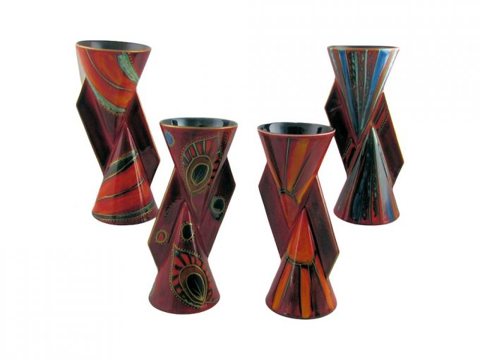 Hand Painted Art Pottery Exclusive Designs