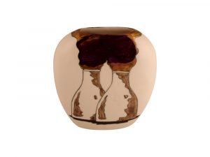 Carlton Ware Vase Smokey Kilns Design