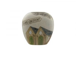 Hand Painted Pottery Vase Stoke Pit Head Design