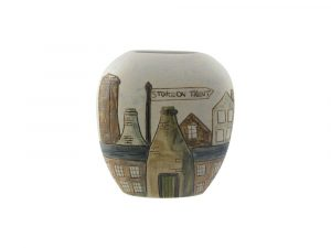 Hand Painted Vase Stoke Potteries Design