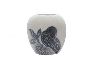 Purse Vase Bird Design White Colourway Lucy Goodwin Designs