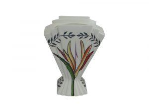 21cm Fan Vase Tropical Spray Design