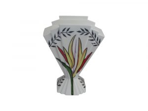24cm Fan Vase Tropical Spray Design