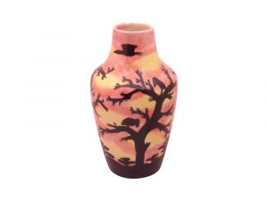 Hand Painted Vase African Sunrise Design