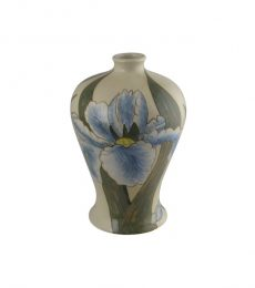 Burslem Pottery Hand Painted Vase Iris Design