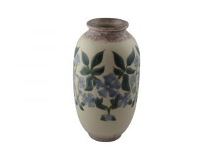 Hand Painted Vase Periwinkle Design