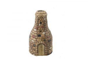 Bottle Kiln Hand Decorated Vase Burslem Pottery