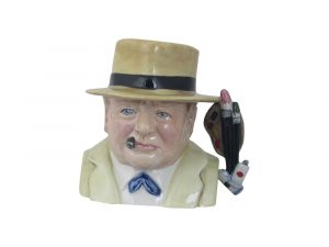 Winston Churchill Toby Jug Artist Design Bairstow Pottery