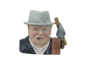 Winston Churchill Toby Jug Bricklayer Design Bairstow Pottery