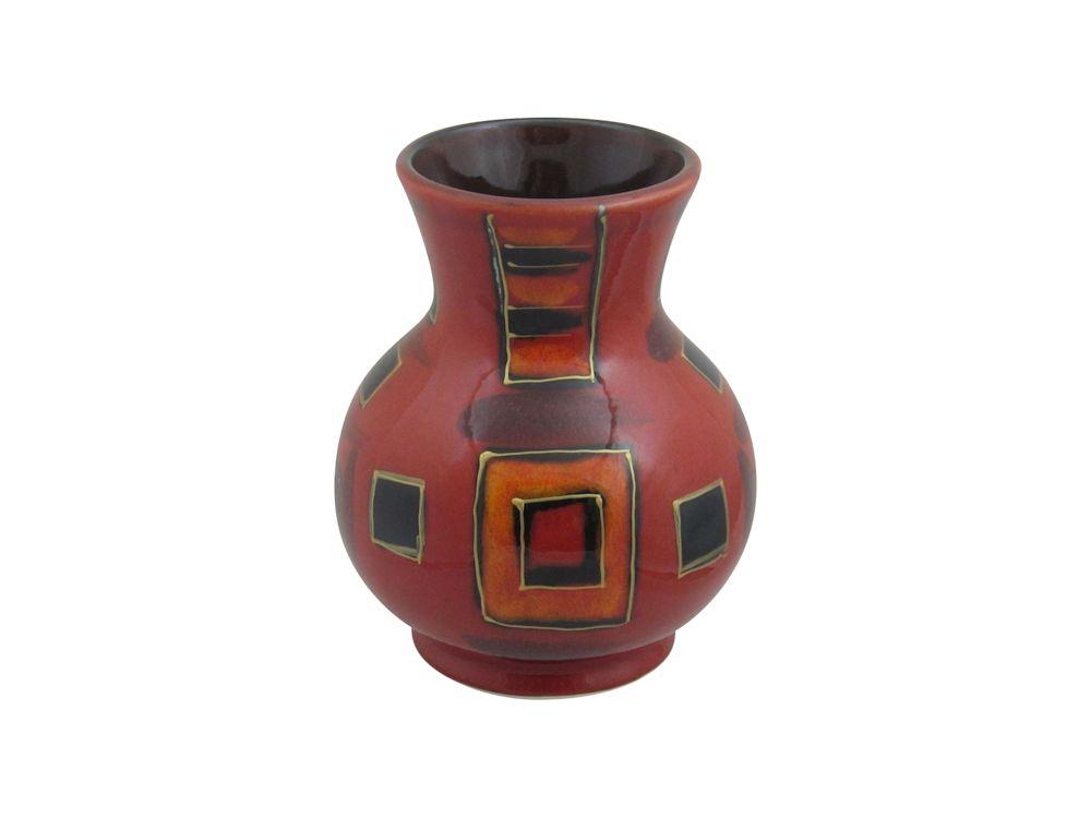 14cm Trojan Vase Inca Square Design L E 1 1 Stoke Art