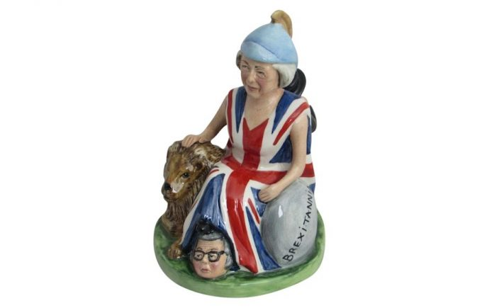 Theresa May Prime Minister Caricature Figure