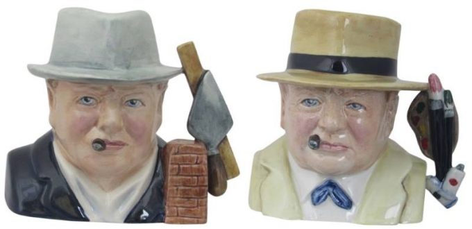 Winston Churchill Darkest Hour and Winston Churchill Character Jugs