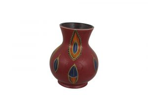 Anita Harris Art Pottery 14cm Vase Blue Jewel Design