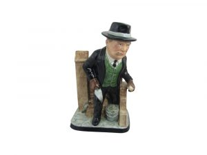 Winston Churchill Bricklayer Figure Bairstow Pottery