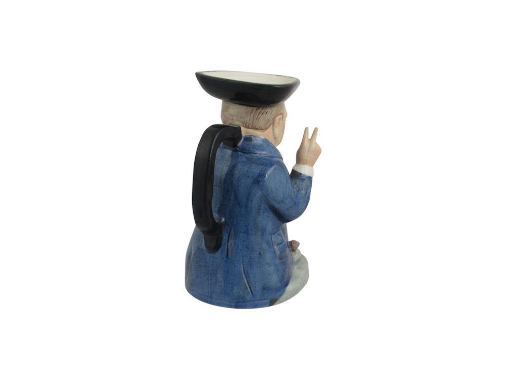 Winston Churchill Mini Jarvis Toby Jug Bairstow Pottery