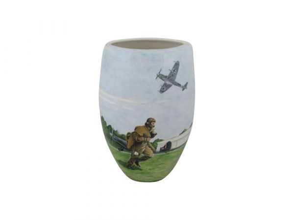 Tony Cartlidge Ceramic Artist Vase Chocs Away Design