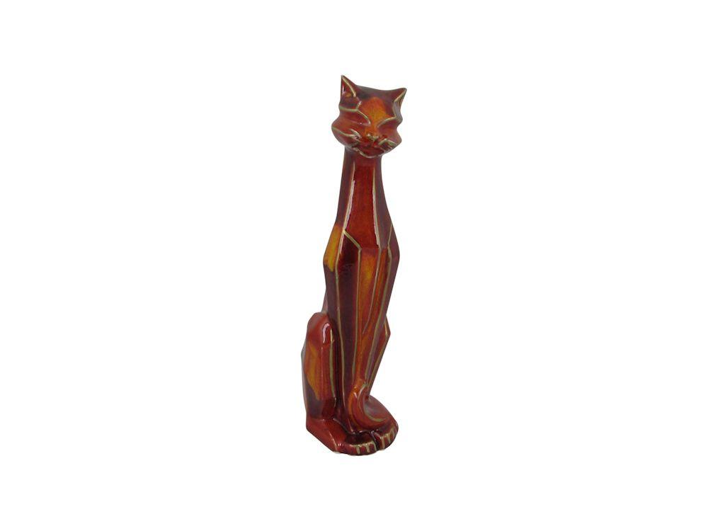 Art Deco Style Cat Hand Painted Anita Harris Art Pottery