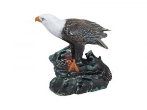Bald Eagle Figure Hand Decorated Anita Harris Art Pottery