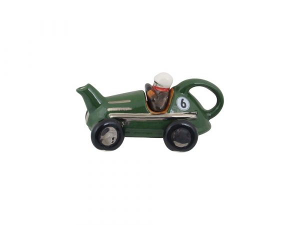 Racing Car One Cup Collectable Teapot Green Carters of Suffolk