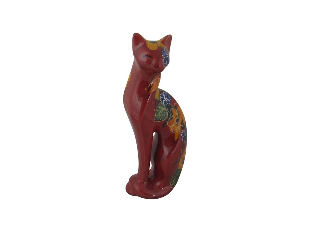 Serene Cat Flowers Design Anita Harris Art Pottery Stoke