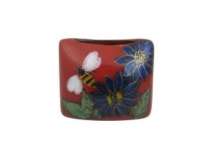 Honey Bee Design Small Vase Anita Harris Art Pottery